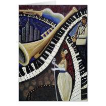 Moonlight Jazz Greeting Card