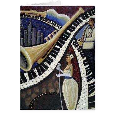 McTiffany Tiffany Aqua Moonlight Jazz Greeting Card