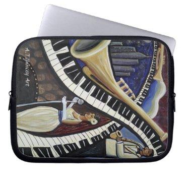 McTiffany Tiffany Aqua Moonlight Jazz Laptop Sleeve