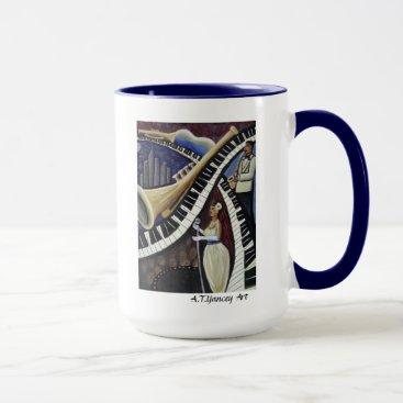 McTiffany Tiffany Aqua Moonlight Jazz Mug