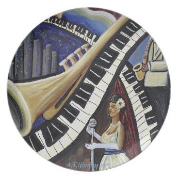 McTiffany Tiffany Aqua Moonlight Jazz Plate