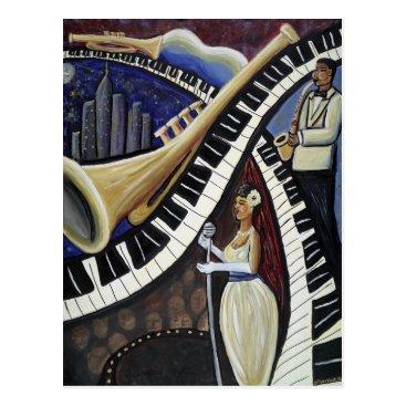 McTiffany Tiffany Aqua Moonlight Jazz Postcard