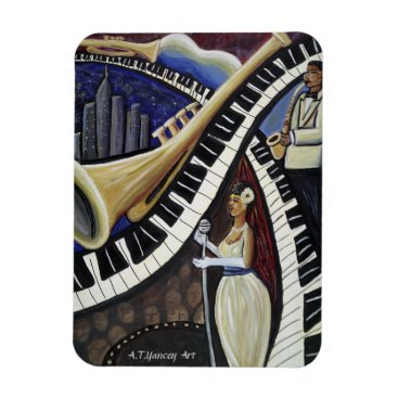McTiffany Tiffany Aqua Moonlight Jazz Premium Flexi Magnet