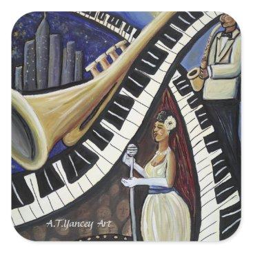 McTiffany Tiffany Aqua Moonlight Jazz Sticker