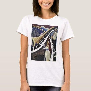 McTiffany Tiffany Aqua Moonlight Jazz T-Shirt