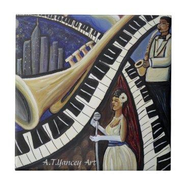 McTiffany Tiffany Aqua Moonlight Jazz Tile