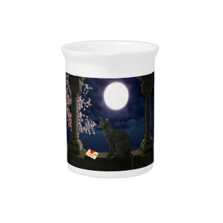 Moonlight Kitty Beverage Pitcher