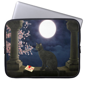 Moonlight Kitty Laptop Sleeve