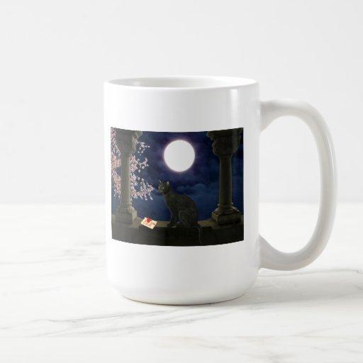 Moonlight Kitty Mugs