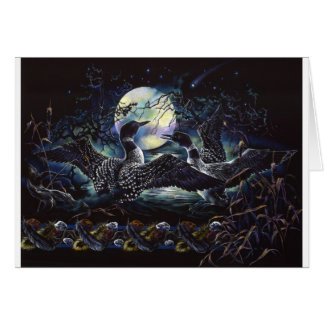 Moonlight Loon Dance Card