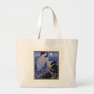 Moonlight Mermaid Tote Bags