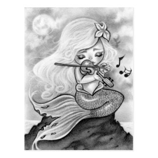 Moonlight Mermaid Violin Sonata Postcard