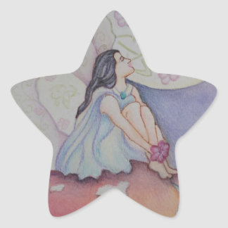 Moonlight mushroom fairy star sticker