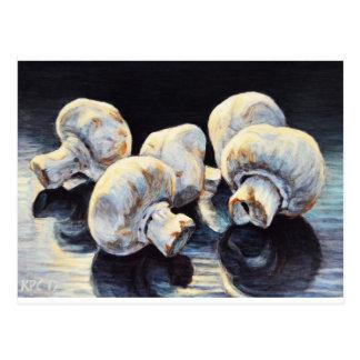 Moonlight Mushrooms Postcard