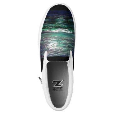 Beach Themed Moonlight Ocean Slip-On Sneakers