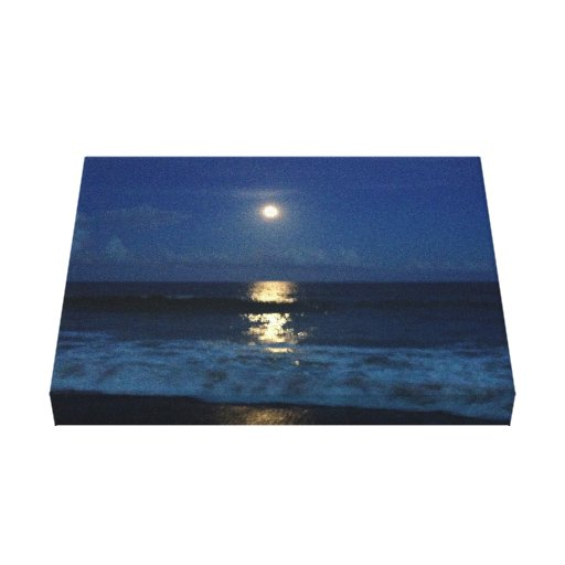 MOONLIGHT on the BEACH Gallery Wrapped Canvas