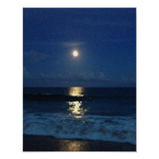 MOONLIGHT on the BEACH Poster