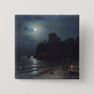 Moonlight on the Edge of a Lake, 1870 Pinback Button