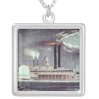 Moonlight on the Mississippi Silver Plated Necklace