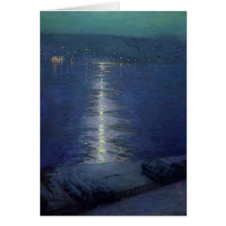 Moonlight on the River, 1919 Card