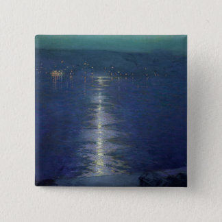 Moonlight on the River, 1919 Pinback Button