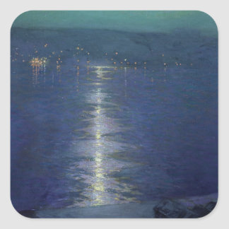 Moonlight on the River, 1919 Square Sticker