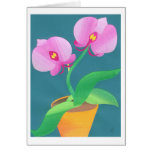 Moonlight Orchid Greeting Card