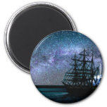 Moonlight Over the Cape Fear Fridge Magnets