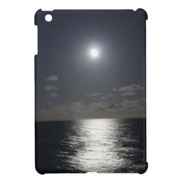 Beach Themed Moonlight over the Ocean Case For The iPad Mini