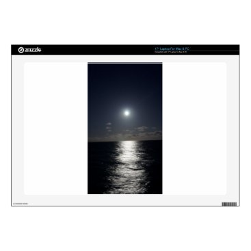 """Beach Themed Moonlight over the Ocean Decal For 17"""" Laptop"""