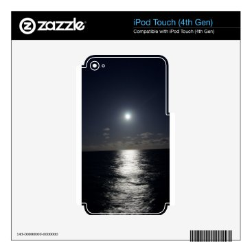 Beach Themed Moonlight over the Ocean Decal For iPod Touch 4G