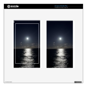 Beach Themed Moonlight over the Ocean Kindle Fire Decals