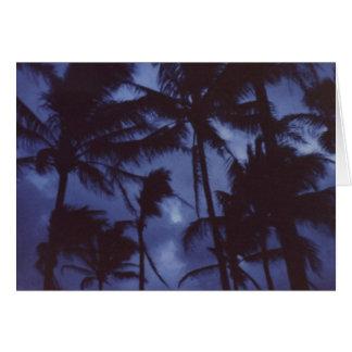Moonlight Palm Trees Card