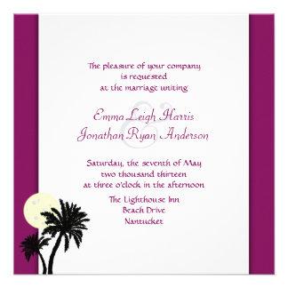 Moonlight Palms Sangria Wine Wedding Invitations