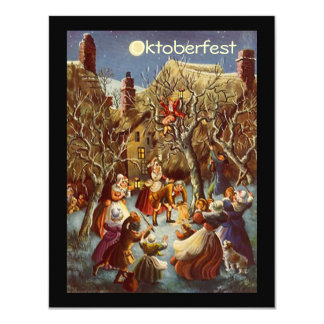 Moonlight Party Gathering Octoberfest Invitations