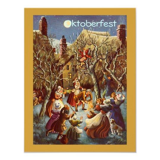 Moonlight Party Gathering Octoberfest Invitations