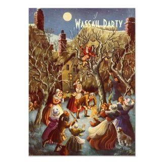 Moonlight Party Wassail Holiday Season Invitations