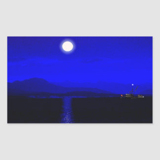 Moonlight Passage Rectangular Sticker