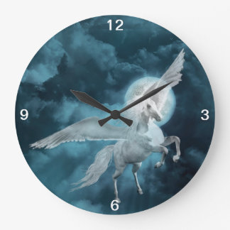 Moonlight pegasus large clock