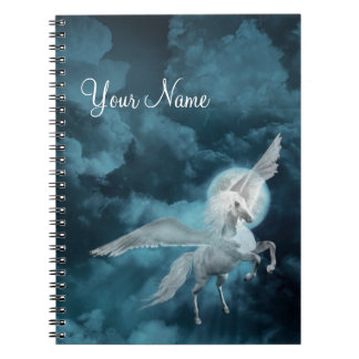 Moonlight pegasus spiral notebooks