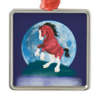 Moonlight Prancer Horse Christmas Ornaments