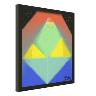 Moonlight Pyramids Canvas Print