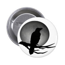 moonlight raven pinback button