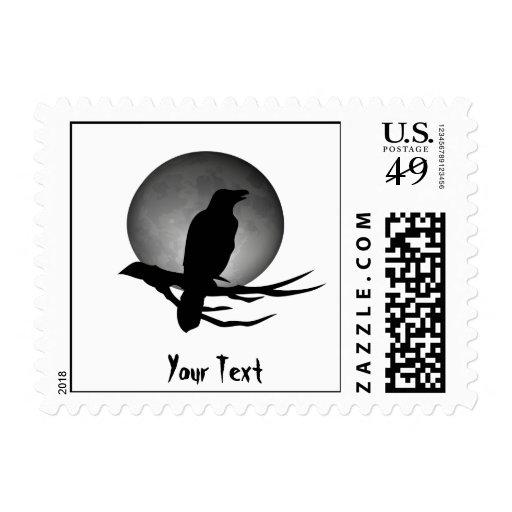 moonlight raven postage stamps