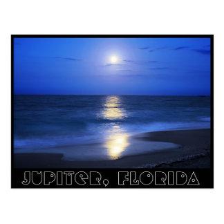 Moonlight reflections from Jupiter, Florida Postcard