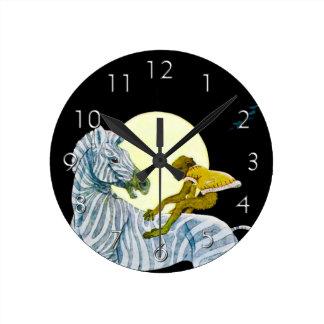 Moonlight Ride Round Clocks