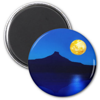 Moonlight rising 2 inch round magnet