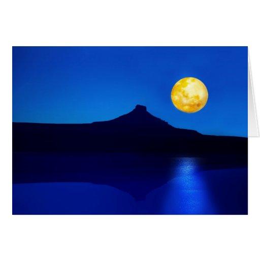 Moonlight rising greeting card