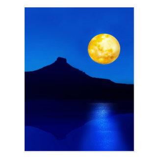 Moonlight rising postcard