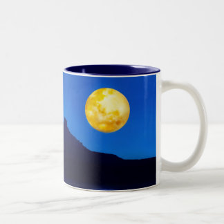 Moonlight rising Two-Tone coffee mug